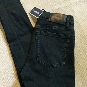 Levi's Silver High Skinny Jeans with Ankle Zip